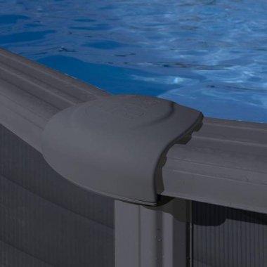 tapa para piscinas de acero 132 cm