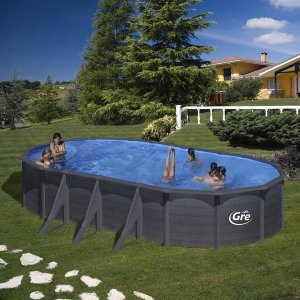Piscina desmontable de acero decoración gráfito KIT730GF_logo