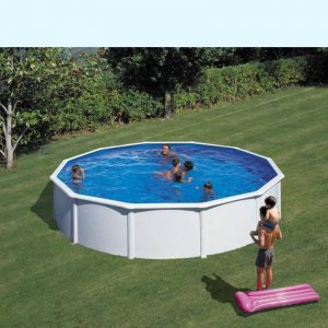 Piscina de acero blanco KIT550ECO