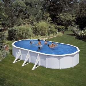 Piscina desmontable de acero blanco KIT810ECO_1
